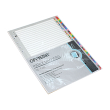 1-20 file dividers with pet tab