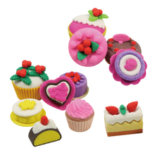 3D food shaped erasers