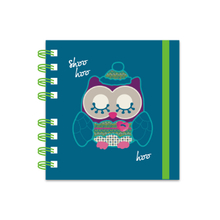 Notebook with wiro and lastic band