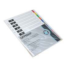 1-12 file dividers with pet tab