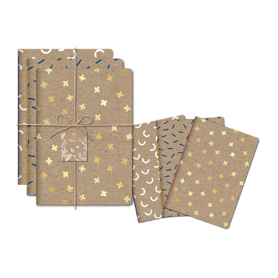 3PK A5 KRAFT EXERCISE BOOK SET