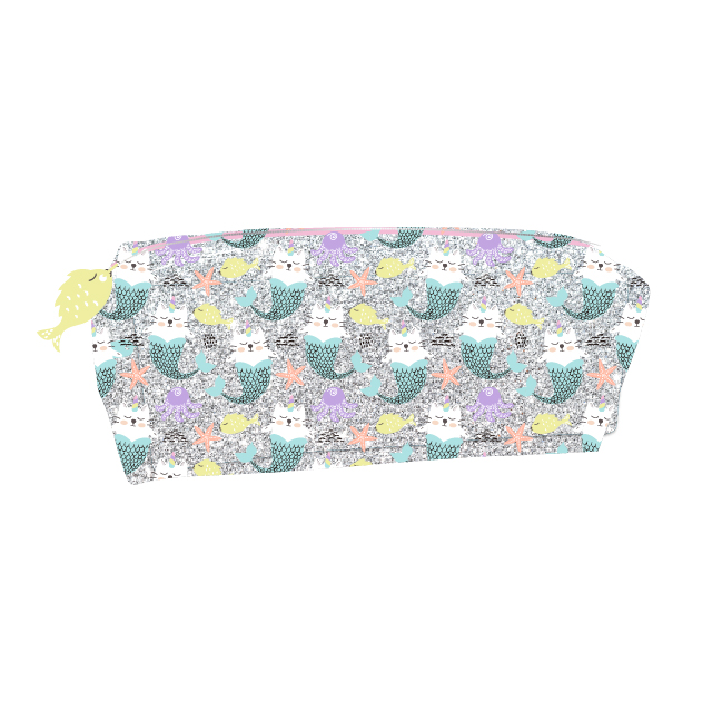Glitter Multi Pocket Pencil Case