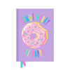 A5 Fur Embroidery Doughnut Notebook
